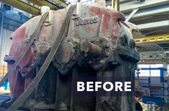 Foote Jones Gearbox Before Repair