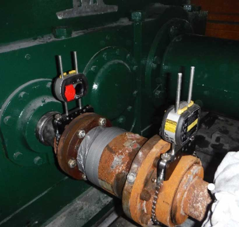 Falk Gearbox Creep Drive Soft Foot Alignment Readings